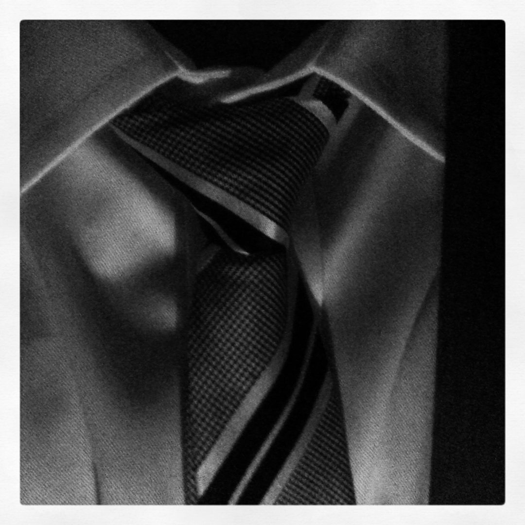 My man wears a grey tie... when I shoot in black & white