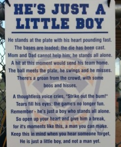 Hopefully that little boy in the poem didn't strike out... if he knows what's good for him!