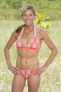 Trish of Survivor says a thick skin is all it takes -- abs of steel probably help, too