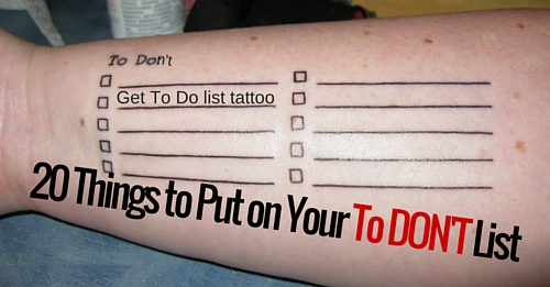 to don't list