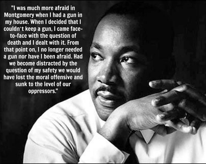 mlk on gun violence